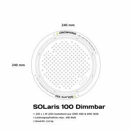 Growking Grow LED SOLaris 100 Watt dimmbar